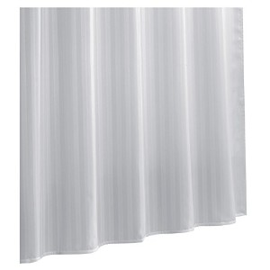Ex-Cell Damask Stripe Fabric Shower Curtain Liner, White [並行輸入品]