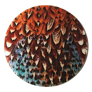 Pheasant PlumageデザインガラスチーズPlatter by Charles sainsbury-plaice。GREAT HUNTINGギフト。