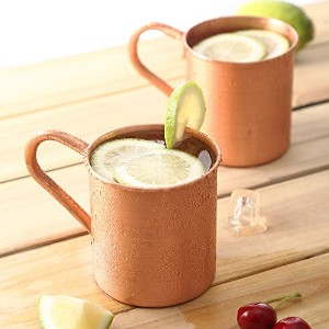 magisor 100 % Pure Copper Moscow Mule Mug ( Set of 2 ) ( 14.5 Oz )