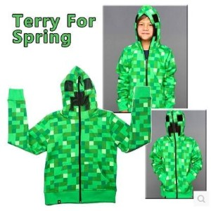 Minecraft Bears Weapon Sweater Spring Clothes Clothes Kids Coats 623 Kids