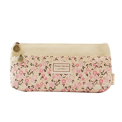 Demarkt 1個かわいい小さな花柄鉛筆ペンケースポーチバッグwith Zipper Cosmetic Bag for Girls 21x10.5x3cm 8AMD1229O3PV093RN7DHY
