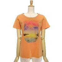 GOHEMP(ゴーヘンプ) 生命の滴 S/SL TEE Color:CORAL ORANGE Size:S