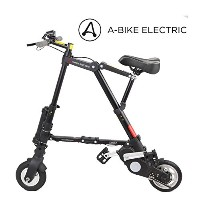 A-bike electric 電動アシスト コンパクト軽量折り畳み自転車 (前後輪ノーパンクタイヤ)