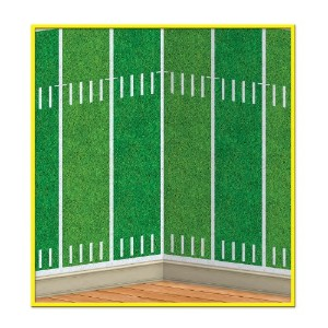 Football Field Backdrop - insta-theme 4' x 30' -