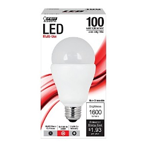 Feit a1600/ 830/ LED a19General Purpose 100ワットLEDライト、ソフトホワイト