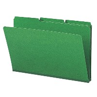 Recycled Folder, One Inch Expansion, 1/3 Cut Top Tab, Legal, Green, 25/Box (並行輸入品)