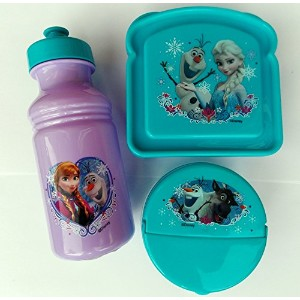 Exclusive Disney's Frozen Featuring Anna, Elsa and Olaf 3-Piece Lunch Box Set by Disney