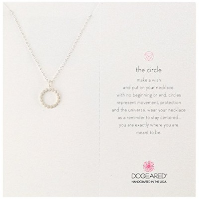 "[ドギャード]Dogeared The Circle Sterling Silver Open Dotted Circle Chain Necklace, 18"" ネックレス ジュエリー[並行輸入品]"