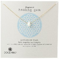 "[ドギャード]Dogeared ""Lasting Healing Gems"" Mother of Pearl Gold Pendant Necklace, 16"" ネックレス ジュエリー[並行輸入品]"