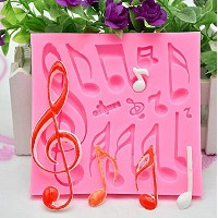Kootips DIY Large Music Note Cookie Cutter Cake Silicone Mould Fondant Sugarcraft Cookie Plunger...