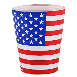 Shot Glass - Assorted Themes/Colors (American Flag) by UNAVAILABLE