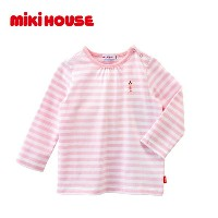 30%OFF セール SALE ミキハウス mikihouse ☆Every Day mikihouse☆リーナちゃん♪ボーダー長袖Tシャツ 80-100cm