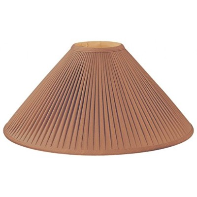 (5 x 20 x 12, Brown) - Royal Designs Pleated Coolie Designer Lamp Shade, Brown 5 x 20 x 12
