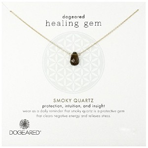 Dogeared Lasting Healing Gems Smoky Quartzペンダントネックレス