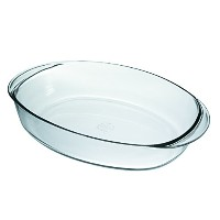 Duralex Made in France Ovenchef Oval Baking Dish , 14 by 10-inch