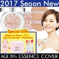 [Age 20s]エッセンスカバーパクトセット ★Essence Cover Pact  Case + 2Refills + 2Puffs + Special Gift Set★2017...