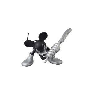 UDF ROEN collection MICKEY MOUSE (GUITAR Ver.) BLACK & SILVER(ノンスケール PVC製塗装済み完成品)