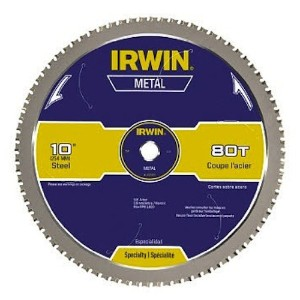 "Irwin4935561Carbide Tooth Metal Cutting Blade-10"" 80T THIN STEEL BLADE (並行輸入品)"