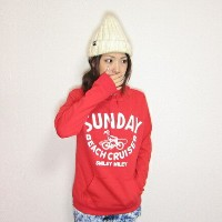 BASIC PARKA パーカー SMILY MILEY レッドプレゼント 可愛い 子供