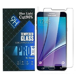 iNTE-SMP Accessories 【Amazon限定・即日出荷】ブルーライトカット90% 強化ガラス Samsung GALAXY NOTE 5 サムスン ギャラクシー ノート5...