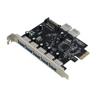 Sedna - PCI Express USB 3.0 7 Port Adapter - Support Win 8 UASP,  SATA電源コネクタ)