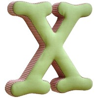 New Arrivals The Letter X, Pink and Green by New Arrivals