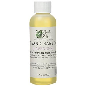 Organic Baby Oil 4.5 oz. (132ml) by Natural Way Organics