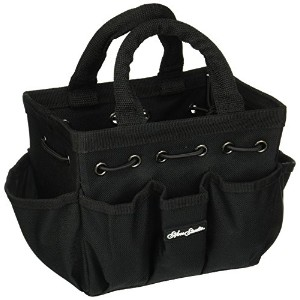 Silver Brush 9502 Nylon Petite Tote with Handle, Rectangular, Black by Silver Brush Limited