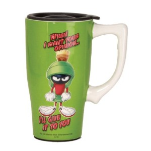 Looney Tunes Marvin Travel Mug ,グリーン