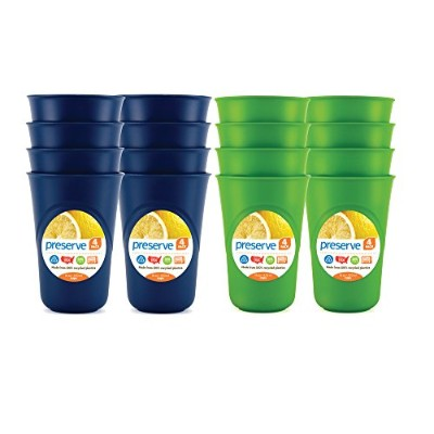 Preserve Everyday Tableware Cup Set, Blue and Green by Preserve