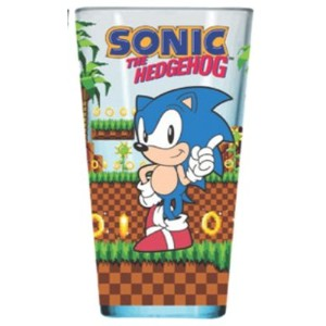 Sonic the HedgehogビデオゲームDrinking Pint Glass
