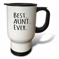 (410ml Travel Mug) - InspirationzStore Typography - Best Aunt Ever - Family gifts for relatives and...