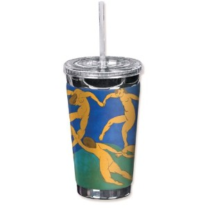 "Mugzie 588-tgc "" Matisse : The Dance "" to go Tumbler with Insulatedウェットスーツカバー、16オンス、ブラック"