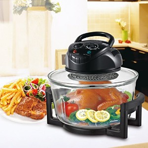 Hometech HT-A11 12 Quart 1200W Infrared Halogen Tabletop Cooking Convection Countertop Toaster Oven...