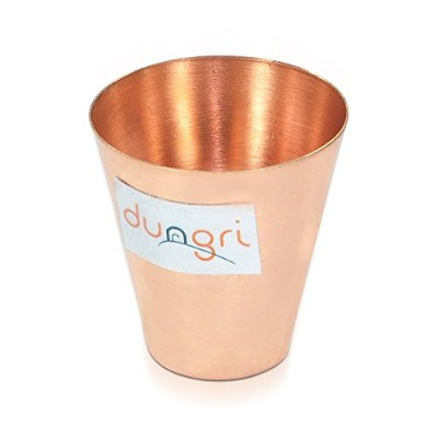(1) - Dungri India Craft Small Solid Copper Moscow Mule, Bar, Cocktail & Wine Glasses/Shot Glasses-...