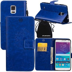 Note 4 Case, Galaxy Note4 Case, DRUnKQUEEnテつョ Wallet Case with Cellphone Holder - PU Leather Cover...