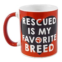 Rescued is My Favorite Breed Big Canマグ–20oz