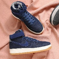 NIKE WMNS AIR FORCE 1 HI SE(ナイキ ウィメンズ エア フォース 1 HI SE)(BINARY BLUE/MUSLIN-SAIL-GUM LIGHT BROWN)【メンズ...