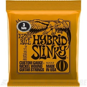 ERNIE BALL #3222 Hybrid Slinky Nickel Wound Electric Guitar Strings 3 Pack《エレキギター弦》【ネコポス】【ONLINE...