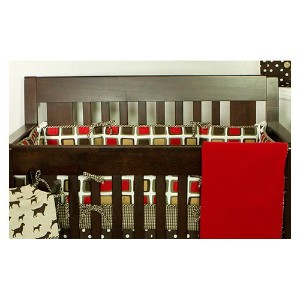 N. Selby HTBU Houndstooth Crib Bumper by Cotton Tale Designs