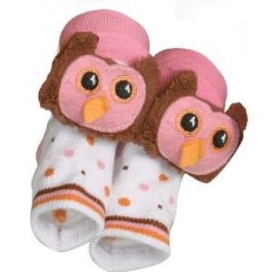 Rattle Socks Owl Pink by Stephan Baby by Stephan Baby