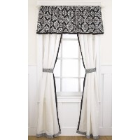 CoCaLo Elsa Window Drapes, Black/White by Cocalo