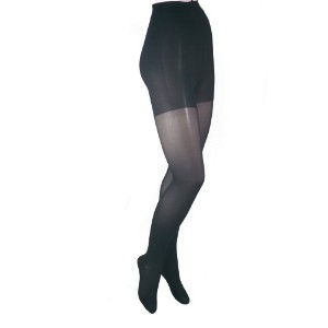 ITA-MED Sheer Pantyhose, Compression (20-22 mmHg) Black, Medium by ITA-MED
