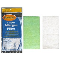 (2) Hoover WindTunnel Non Self Propelled 3 Layer Final Vacuum Filter, Bagless, Uprights, Widepath,...