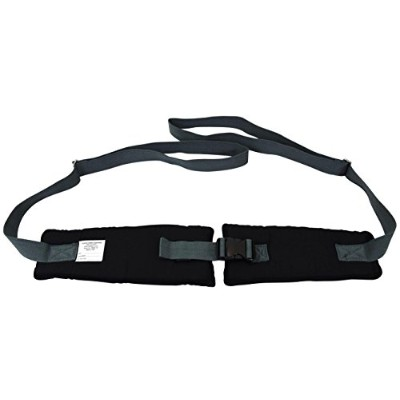 Secure EZ Release Soft Wheelchair Seat Belt, Black/Gray by Secureテつョ