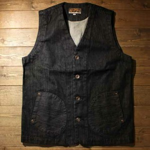 "AT-DIRTY""WORKERS VEST""INDIGO DENIM【AT-DIRTY】(アットダーティー)正規取扱店(Official Dealer)Cannon Ball(キャノンボール)..."