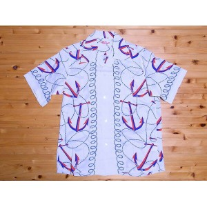 SUN SURF[サンサーフ] アロハシャツ ANCHORS AWAY SS35671 (OFF WHITE)