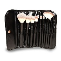GG Beauty Premium Synthetic Makeup Brush Set 11 Piece - Cosmetics Set  Kit with Black Pouch (Brown)