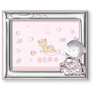 Silver Touch USA Sterling Silver Picture Frame, Baby Girl, 4 X 6 by Silver Touch USA