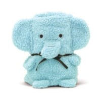 Brownlow Cuddly Elephant Baby Blanket / Receiving Blanket (Blue) by Brownlow